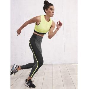 Athleta Spar Colorblock 7/8 Tight Green Black